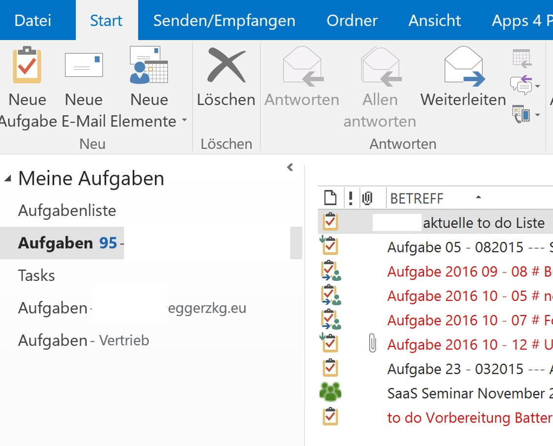 Tasks Planner 365 Outlook sync